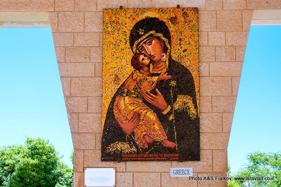 Православное пано Девы Марии в Базилике Благовещения в Назарете. Гид Светлана Фиалкова.