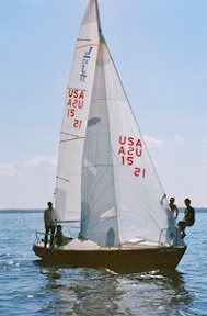 J/24 one-design sailboat number 15!  Sailing Lake Minnetonka