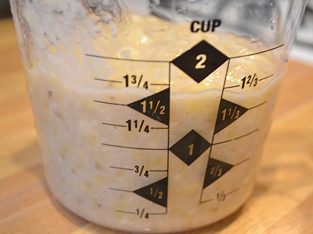 measure mashed bananas