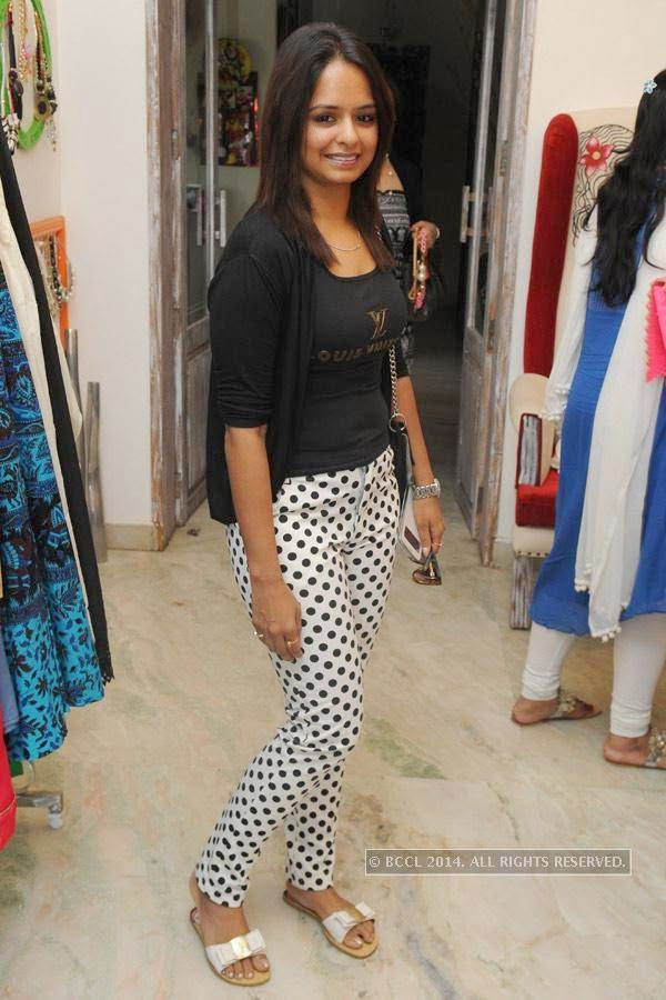 Tina during a fashion exhibition in Hyderabad.