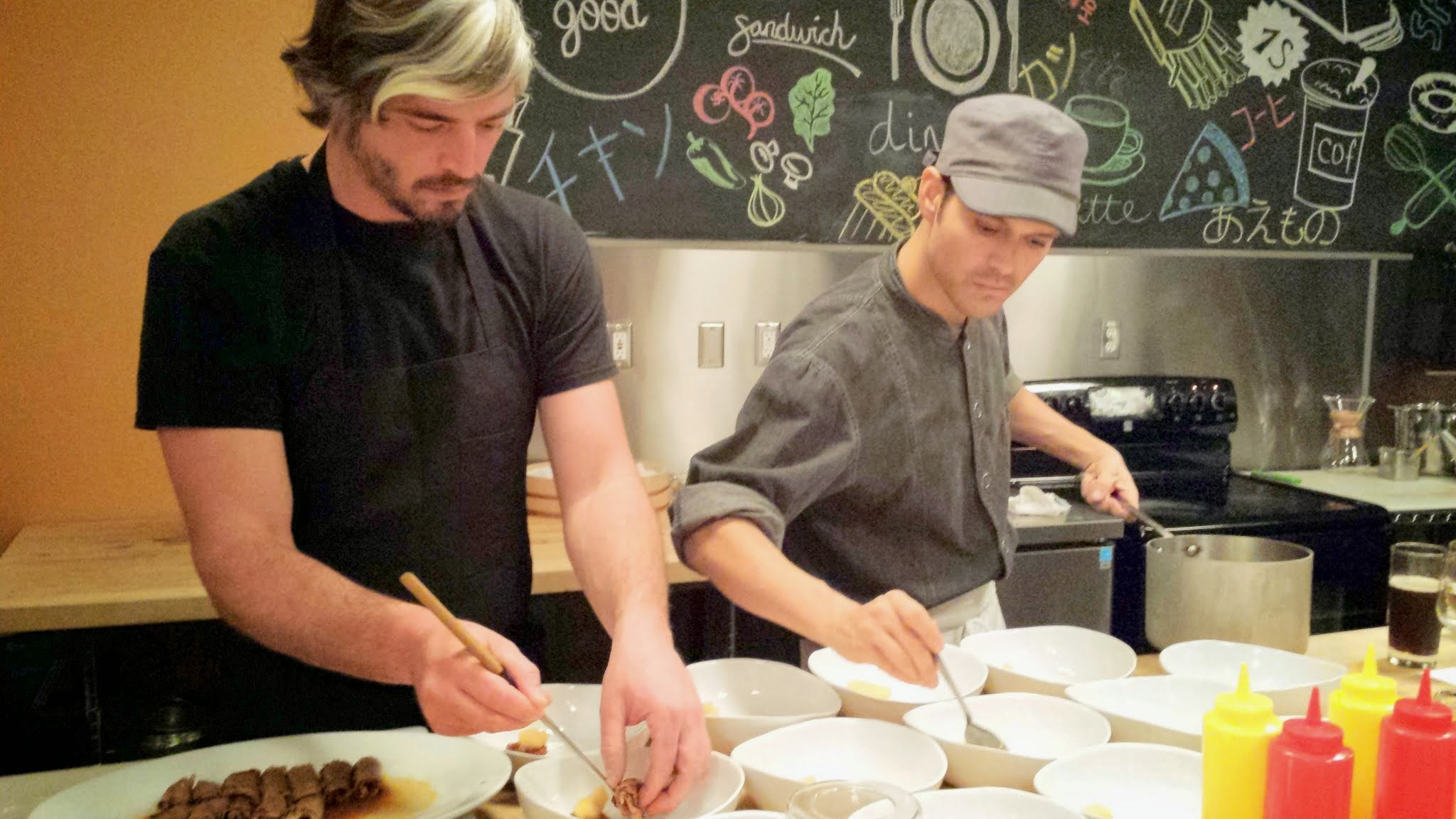 Nodoguro PDX demonstrates teamwork in plating with Sous Chef Mark Wooten and Chef de Cuisine Ryan Roadhouse