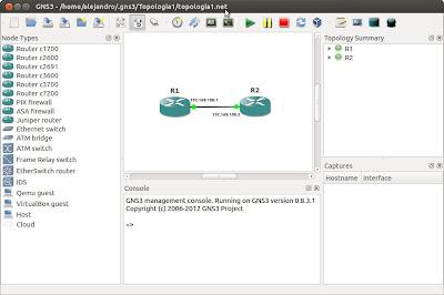 Creación de un escenario en GNS3