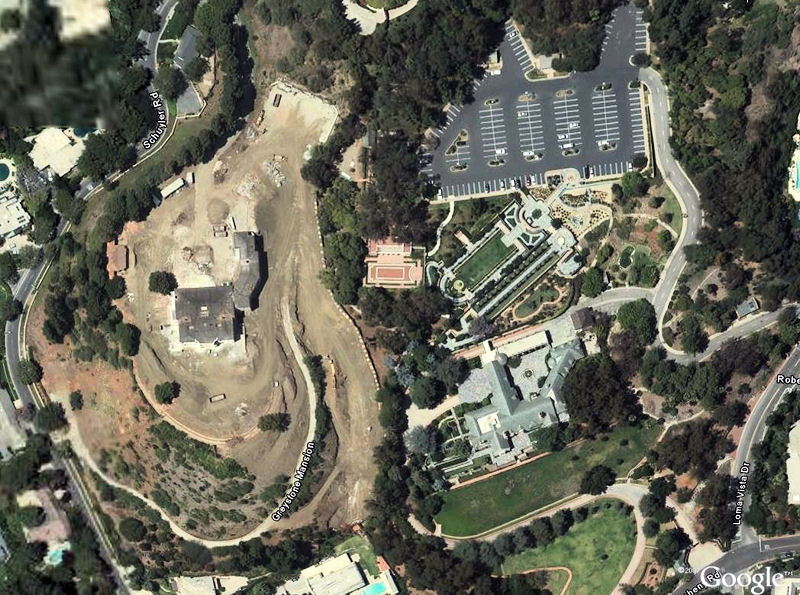 Грейстоун крупным планом с высоты птичьего полета, из Google Earth
