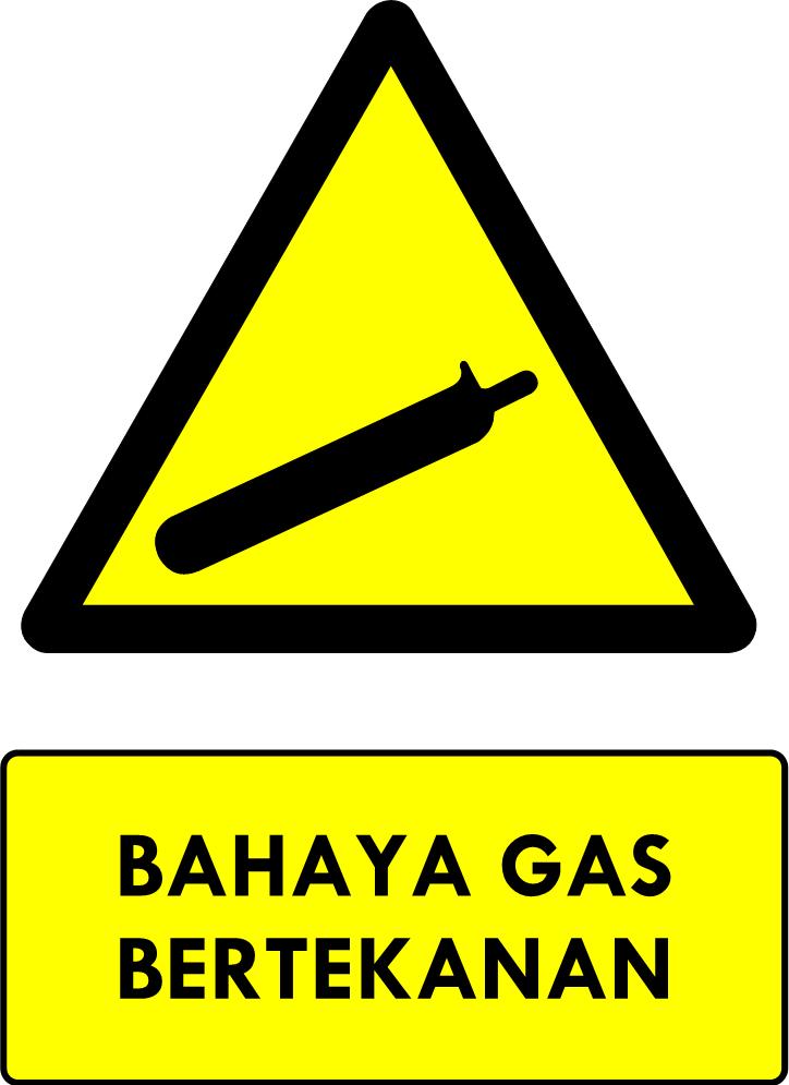Rambu Bahaya Gas Bertekanan