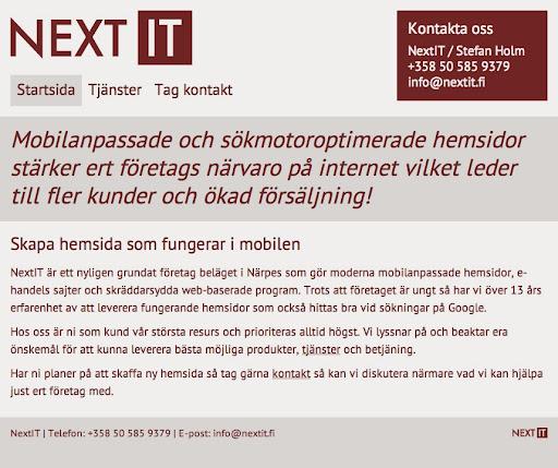 NextIT, Kaskövägen 122, 64200 Närpes, Suomi, Ohjelmistoyritys   Länsi ja Sisä Suomi