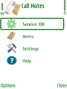 callnotes1 Download the application for Incoming Call Filter with Best Call Firewall Nokia s60v3/s60v5