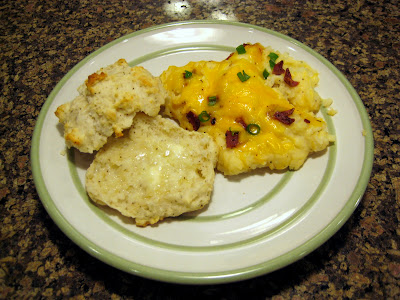 Parmesan Peppercorn Biscuits & Baked Potato Casserole