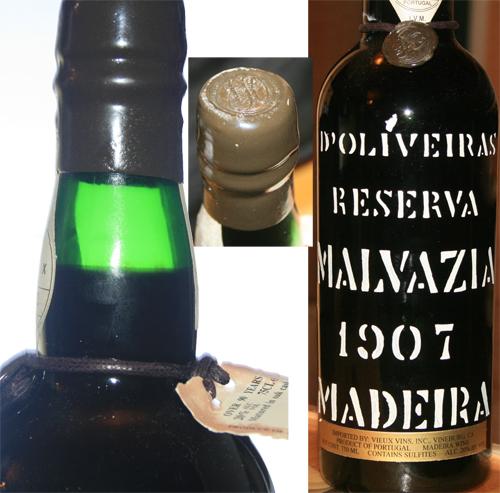 1907 d'Oliveiras Malvazia Reserva Madeira