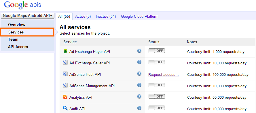 API Project Services