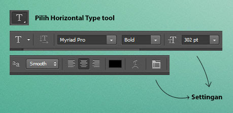 Horizontal type tool