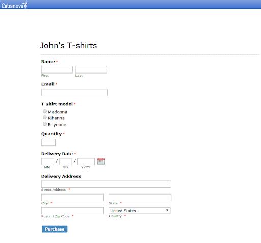 post web forms on Cabanova