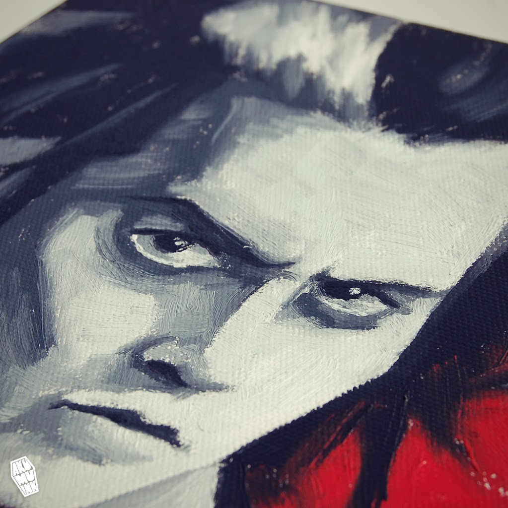 sweeney todd, sweeney todd art, tim burton movie art, tim burton movie painting, johnny depp fanart, buy fanart, buy custom portrait, buy street artist art