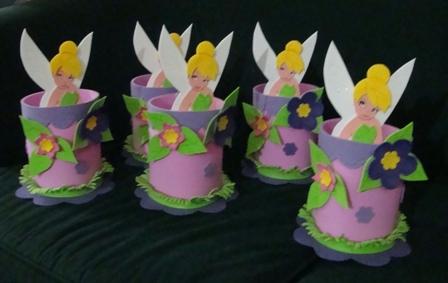 Centros de mesa para fiestas infantiles de Campanita - Imagui