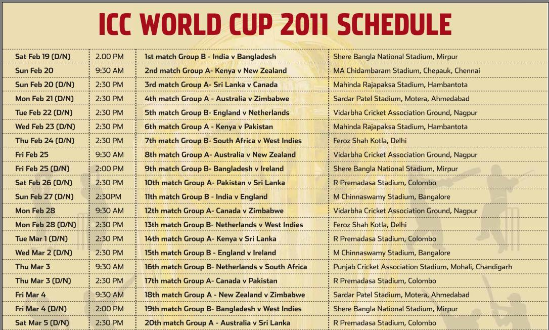 World Cup 2011 Schedule Wallpaper. house World Cup 2011 Schedule