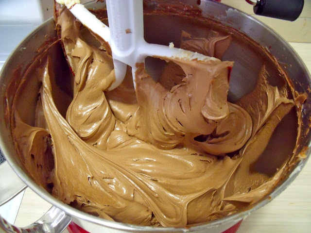 Whipped Salted Caramel Ganache Icing | Sixty Square Feet