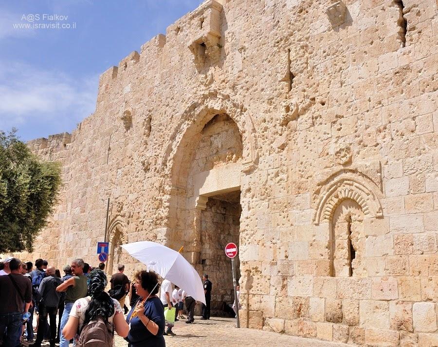 Сионские ворота Старого города Иерусалима. Экскурсия в Иерусалиме. Гид в Иерусалиме Светлана Фиалкова.