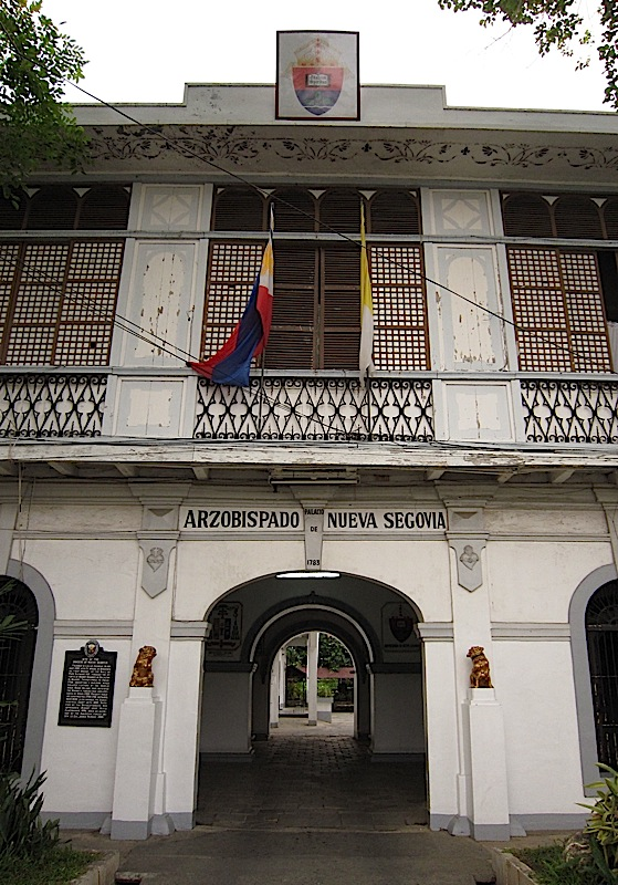 the Archbishop's Palace of the Archdiocese of Nueva Segovia in Vigan, Ilocos Sur