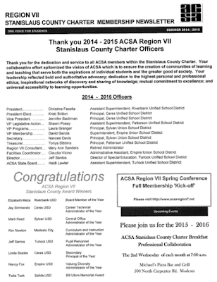 SCACSA Spring 2015 Newsletter