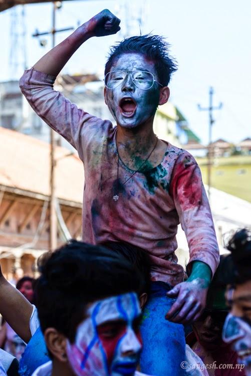 holi, festival, nepal, celebration, falgu, purnima, colors, kathmandu, basantapur,