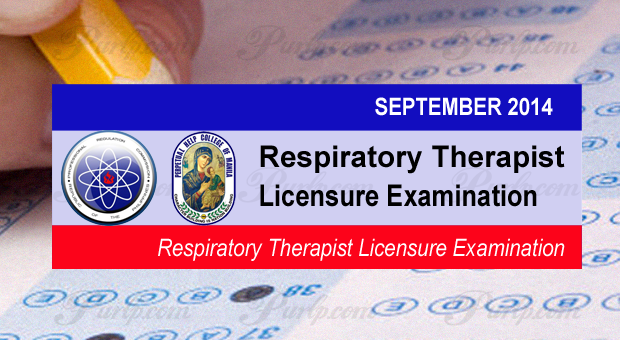 Respiratory Therapist September 2014 Exam Results