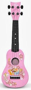 disney princesses pink plastic ukulele