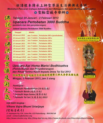Pertobatan 3000 Buddha