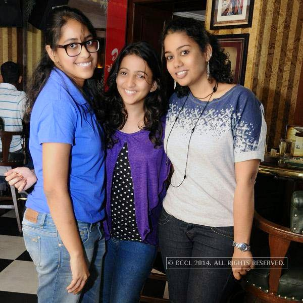 Nivedita, Mansi and Magdalen during Weekend party at 10 Downing Street, held in Chennai.