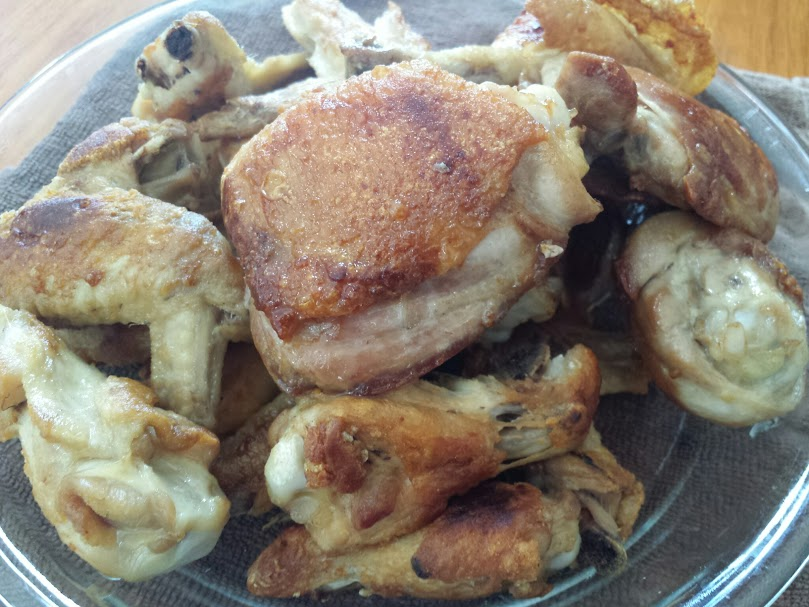 วิธีทอดไก่ น่องไก่ ปีกไก่ ไม่ใช้น้ำมันทอด