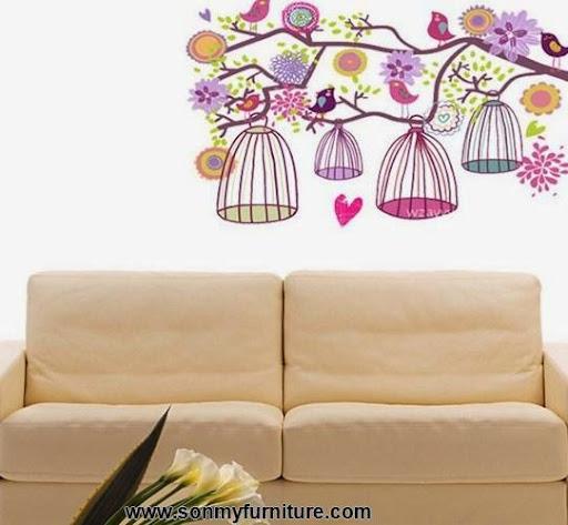 Trang trí nhà đón Tết với giấy dán tường mùa xuân-2