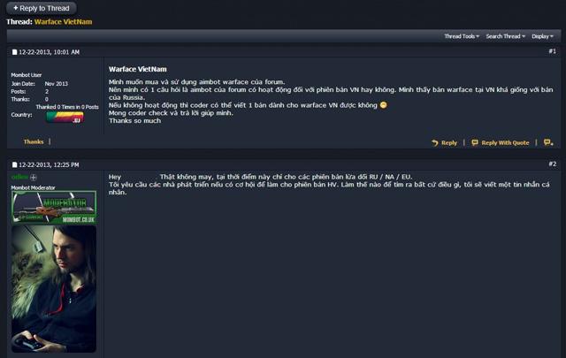 goPlay ban vĩnh viễn các tài khoản hack trong Warface 3