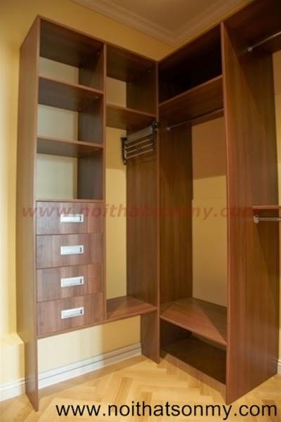 Tủ quần áo gỗ chữ L