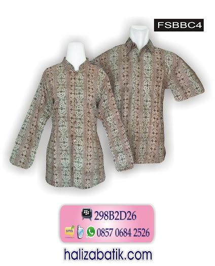 FSBBC4 Batik Keluarga, Model Busana, Baju Batik Modern, FSBBC4