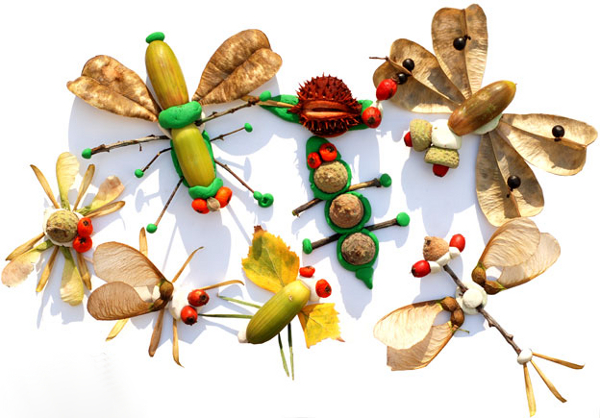 поделки из пластилина с природными материалами