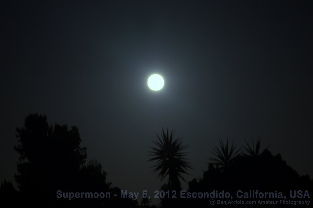 Supermoon photo 1 - May 5, 2012 Lunar Perigee view from San Diego