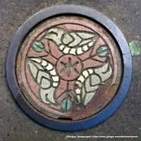 札幌市デザインハンドホール蓋(彩色):カッコウ