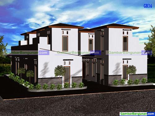 Desain rumah bedeng minimalis