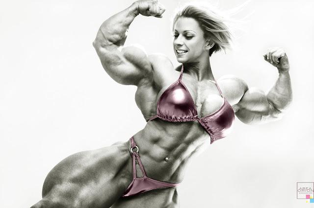 Fabiola Boulanger female muscle morph