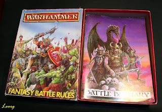 Contenido de la caja de la 2ª Edición de Warhammer Fantasy Battle