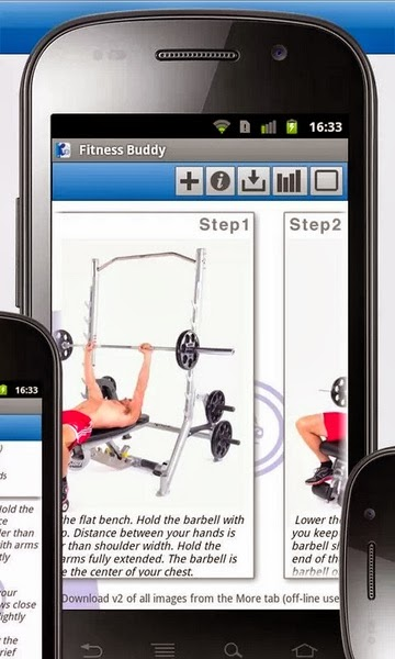 fitness buddy android smart phone app