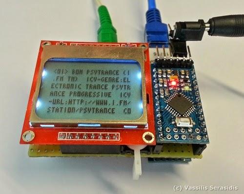internet radio player using arduino