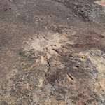 Mortar shell impact at Refuge Rock (173889)