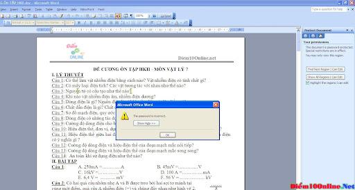 [Microsoft Office Word] Cách phá password protect document ...