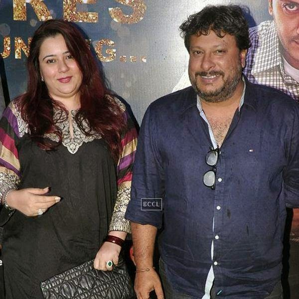 Tigmanshu Dhulia with a guest at the success party of Bollywood movie 'Ek Villain', held at Ekta Kapoor's residence on July 15, 2014.(Pic: Viral Bhayani)
