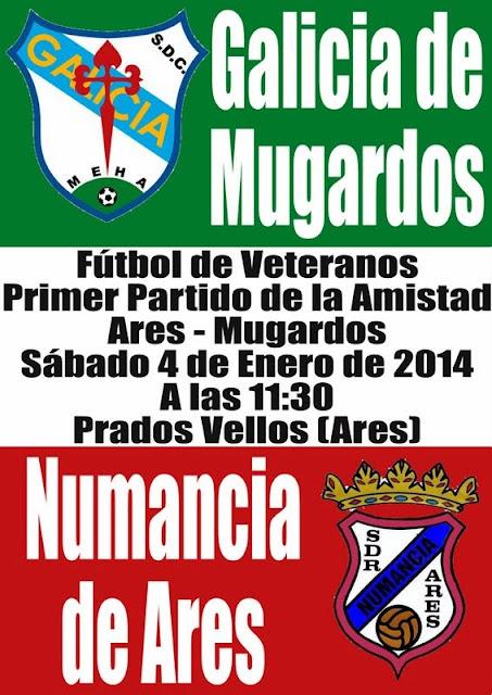 A.D.R. Numancia de Ares. Partido de la Amistad Ares Mugardos. Galicia de Mugardos - Numancia de Ares. Fútbol Veteranos en Prados Vellos.