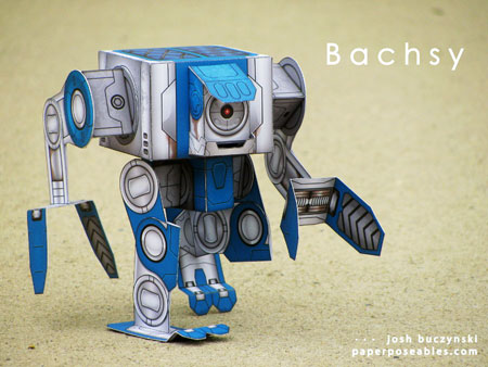 Bachsy Paper Toy Robot