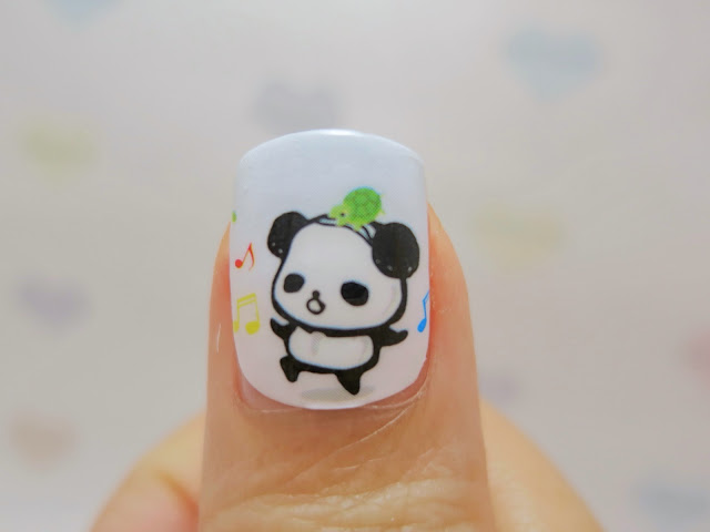 Weird Dancing Panda Nail Wrap Nail Art A1032