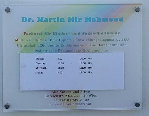 Dr. Martin Mir Mahmoud, Kinderarzt, Eisteichstraße 23, 1110 Wien, Österreich, Kinderarzt, state Wien