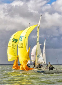 J/22s sailing Dutch National Open Championship