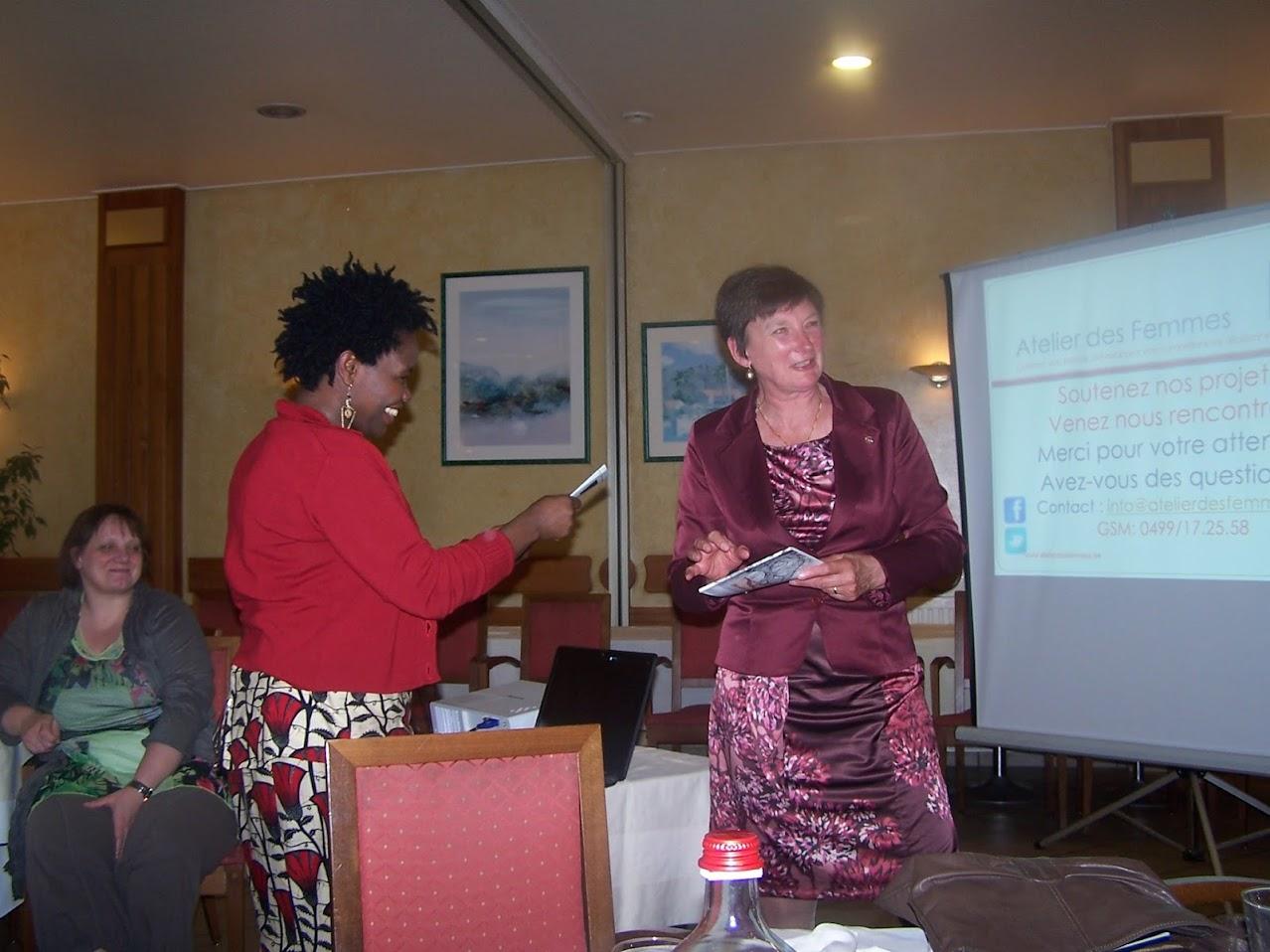 Ce 19 mars, Soroptimist invitait l'Atelier des Femmes à lui présenter ses activités pour mieux faire connaissance et identifier les synergies