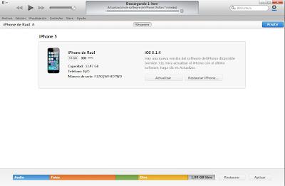 Update IOS7 Iphone 5